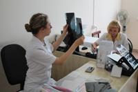 Краевые онкологи обследовали жителей Динского района
